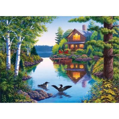 puzzle 500 pi ces grands ext rieurs la cabane au bord du lac magasin de jouets pour enfants. Black Bedroom Furniture Sets. Home Design Ideas