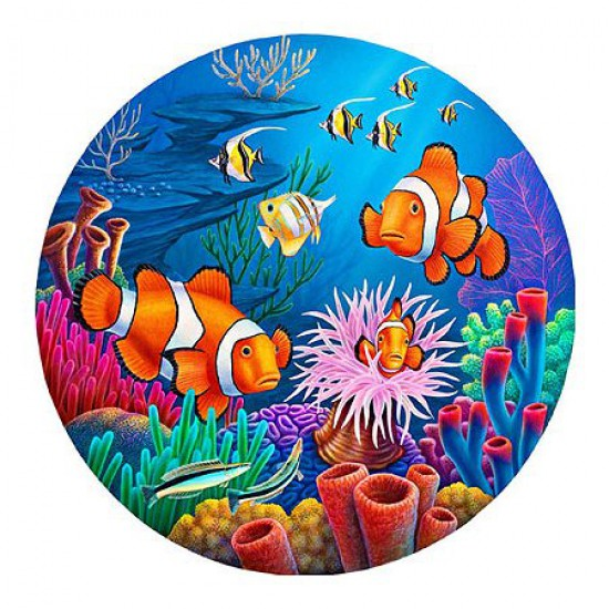 Puzzle 700 pi ces rond paysages marins clown club for Grand aquarium rond