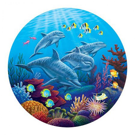 Puzzle 700 pi ces rond paysages marins danse de for Grand aquarium rond
