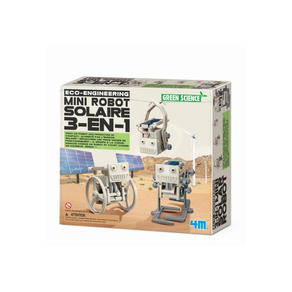 Kit de fabrication Green Science : Mini Robot solaire 3 en 1 - Dam-5663377