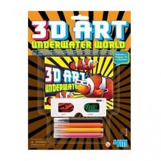 Art 3D Le monde sous-marin