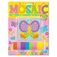 Kit de réalisation de mini mosaïque 2 mosaïques : Papillon et fleur