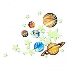Le système solaire et 20 étoiles