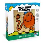 Cubes Monsieur Madame : 9 cubes en bois