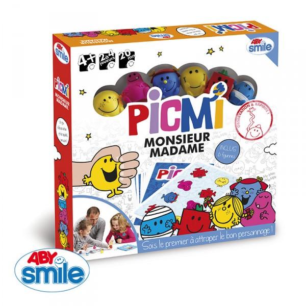 Jeu de plateau Monsieur Madame : Picmi - AbySmile-SMIJDP039