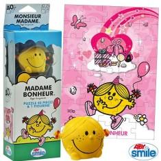 Puzzle 40 pièces : Monsieur Madame : Mme Bonheur
