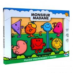 Puzzle encastrable 7 pièces en bois Monsieur Madame
