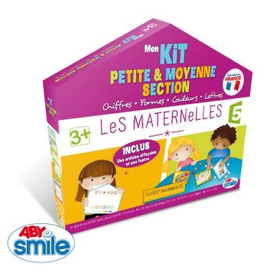 jeu les maternelles mon kit petite et moyenne section chiffres formes couleurs lettres. Black Bedroom Furniture Sets. Home Design Ideas