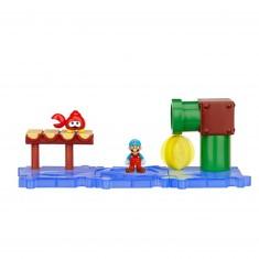 Micro figurines Land Nintendo : Eaux pétillantes et Mario de glace