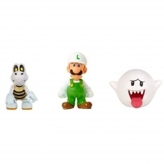 Micro figurines Nintendo : Fire Luigi, Dry Bones, Boo