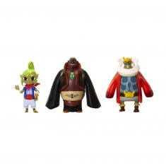 Micro figurines Nintendo : Tetra, Roi d'Hyrule et Ganondorf