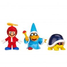 Micro figurines Nintendo - Mario hélices, Kamek, Buzzy Beetle
