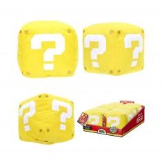 Peluche sonore Nintendo : Cube Jaune 13cm