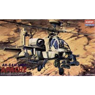 Maquette hélicoptère: AH-64A Apache 1/48 - Academy-2115