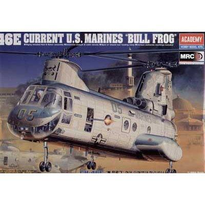 Maquette hélicoptère: CH-46E US Marine Bullfrog - Academy-2226