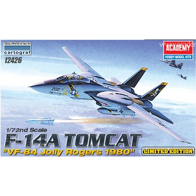 Maquette avion : F-14A Tomcat VF-84 Jolly Rogers 1980 - Academy-12426