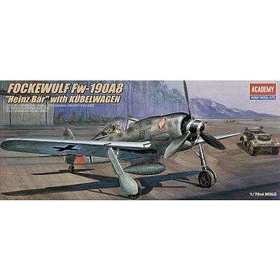 Maquette avion: FW-190A FockeWulf + Kubel Wagen - Academy-2213