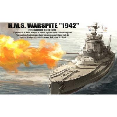 Maquette bateau: HMS Warspite 1942: Premium Edition - Academy-14108