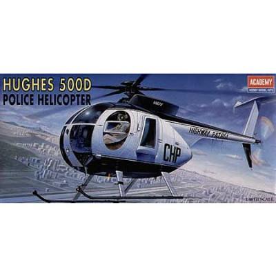 Maquette hélicoptèrede police Hughes 500D  - Academy-1643