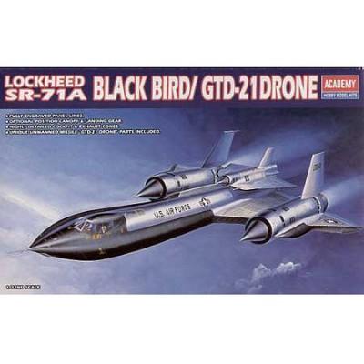 Maquette avion: Lockheed SR71-A Black Bird / GTD-21 Drone - Academy-1642