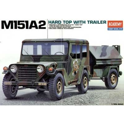 Maquette M151 A2 Hard Top with Trailer - Academy-13012