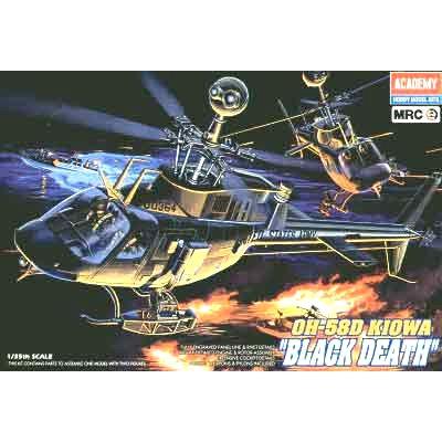 Maquette hélicoptère: OH-58D Kiowa Black Death - Academy-2195