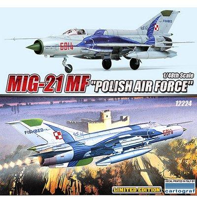 Maquette avion: MIG 21MF Polish Air Force - Academy-12224
