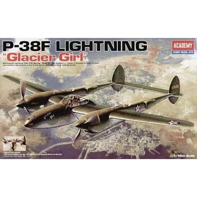 Maquette avion: P-38F Glacier Girl - Academy-12208