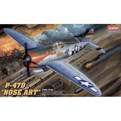 Maquette avion: P-47D Thunderbolt Nose Art - Academy-2211
