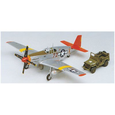 Maquette avion: P-51C Mustang Red Tails + Jeep - Academy-2225