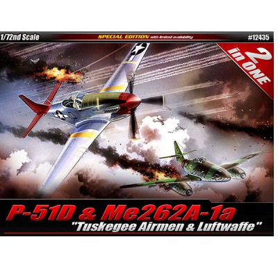 Maquettes avions : P-51D & Me 262A Combo - Academy-12435
