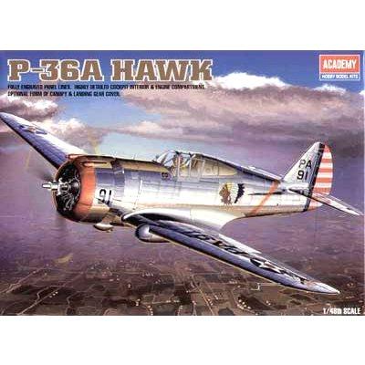 Maquette avion: P36-A Hawk - Academy-2181