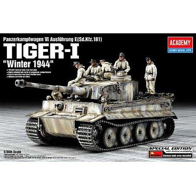 Maquette Char: Tiger I avec figurines MiniArt - Academy-13861