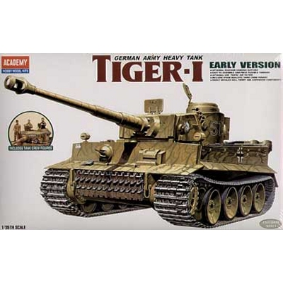 Maquette Char: Tiger I Exterior Model - Academy-1386