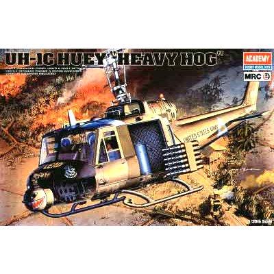 Maquette hélicoptère: UH-1C Huey Heavy Hog - Academy-2199