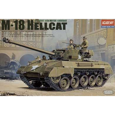Maquette Char: US Army M-18 Hellcat - Academy-1375