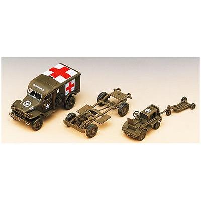 Maquette U.S. Ambulance & Tow Truck  - Academy-13403