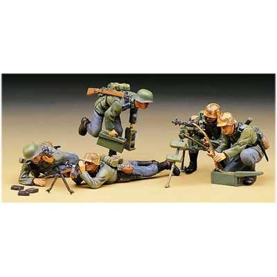 Figurines 2ème Guerre Mondiale : Equipe mitrailleuse allemande - Academy-1379