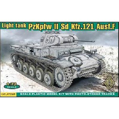 Maquette Char léger allemand PzKpfw II Sd.Kfz.121 Ausf F - Ace-ACE72269