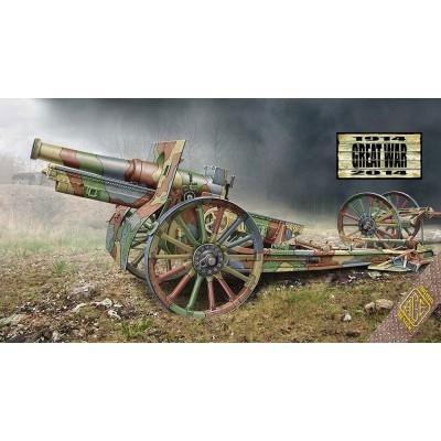 Maquette Matériel Militaire : Canon de 155 cm de 1917 (roues en bois) - Ace-ACE72543