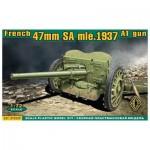 Maquette véhicule militaire : S.A. Mle 1937 47mm Canon aniti-chars français 1938