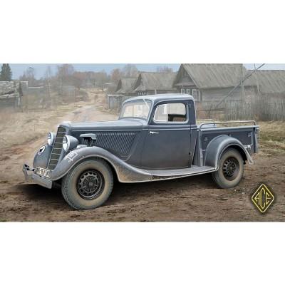 maquette voiture wwii soviet pick up gaz m 415 ace rue des maquettes. Black Bedroom Furniture Sets. Home Design Ideas