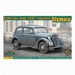 Maquette voiture d'état major armée allemande modèle 1937 Olympia