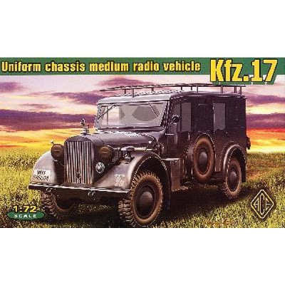 Maquette véhicule radio allemand Kfz.17 - Ace-ACE72260