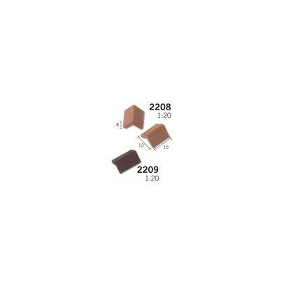 Maquette en céramique : Accessoires : 25 marches noires : 1/20 - Aedes-2209
