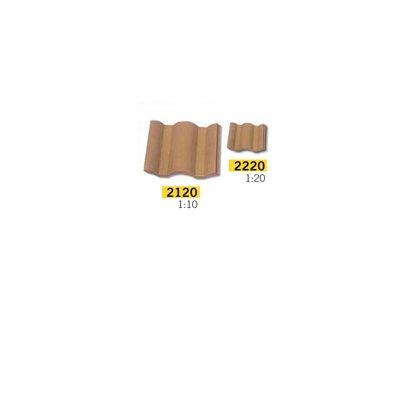 Maquette en céramique : Accessoires : 25 tuiles flamandes rouges : 1/10 - Aedes-2120