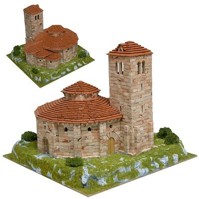 Maquette en céramique : Eglise de la Vera Cruz, Ségovie, Espagne - Aedes-1105