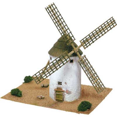 Maquette en céramique : Moulin de La Mancha, Castilla La Mancha, Espagne - Aedes-1255