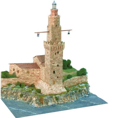 Maquette en céramique : Phare de Porto Pí, Palma de Majorque, Espagne - Aedes-1259