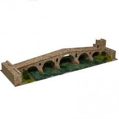 Maquette en céramique : Puente la Reina, Gares, Espagne